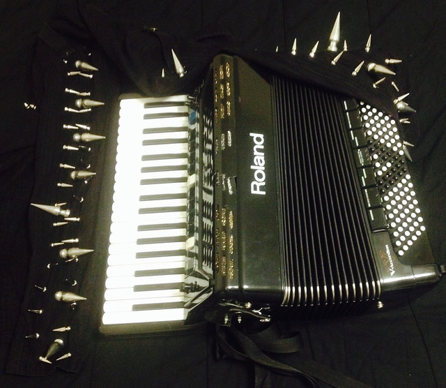 Gear Review: Sunflower Dead Frontman Michael Del Pizzo Discusses His Roland V Accordion FR-3X