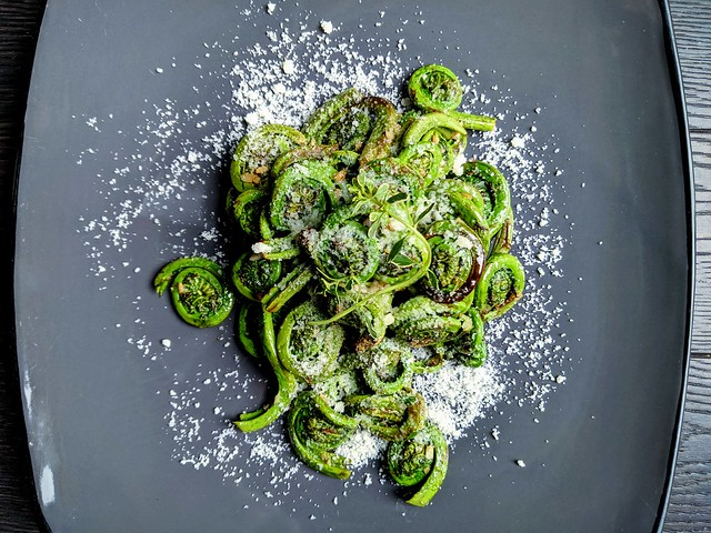 """Baker's Dozen with Danny P. - Mid-Day Munch with Some """"Fuzzy Spring Fiddleheads"""""""
