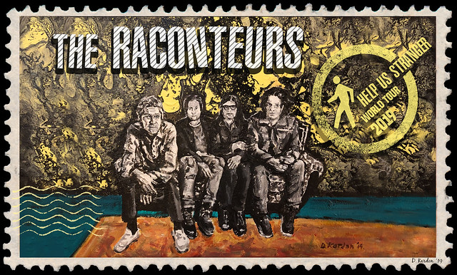 """Red Run Art Series (No Blackout Dates) - Package #21: """"Help Us Stranger"""" Tour Stamp ft. The Raconteurs"""