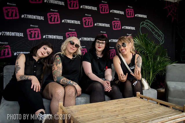 The Anti-Queens at '77 Montreal (Parc Jean-Drapeau, Montreal, Quebec) on July 26, 2019