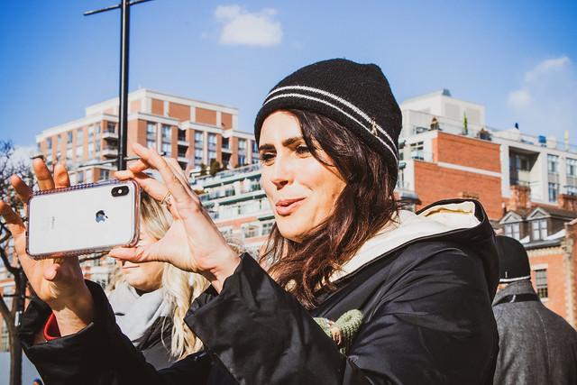 Within Temptation vocalist Sharon den Adel in Toronto, Ontario on March 6, 2019