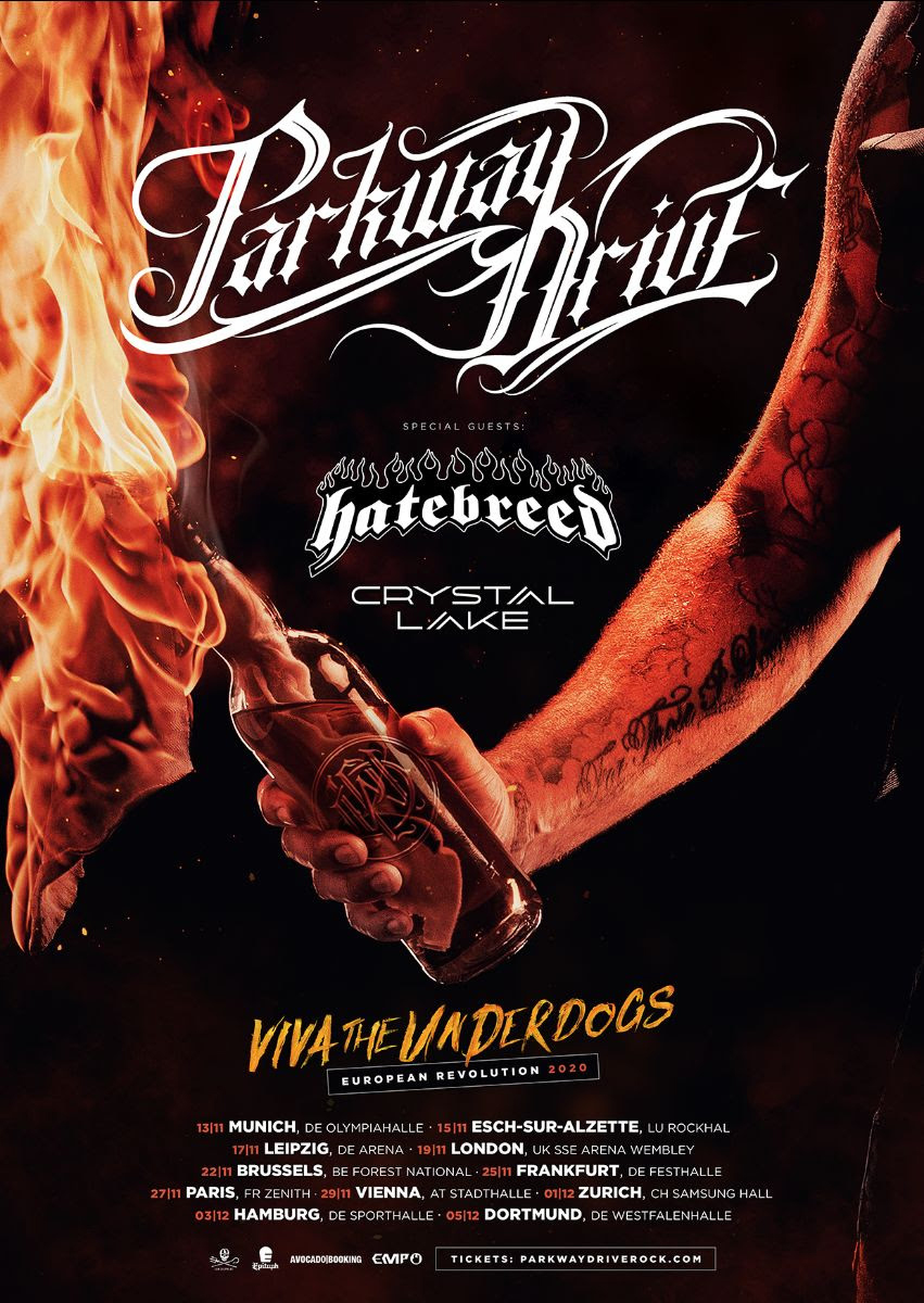 Parkway Drive - Viva The Underdogs Tour Poster