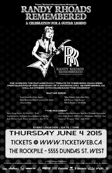 Randy Rhoads Remembered poster